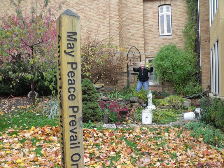 Marlys fall cleanup fountain